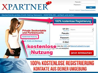 XPartner bietet eine 100% kostenlose Registrierung und Nutzung.